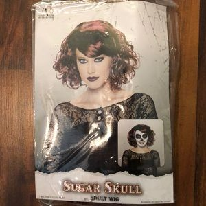 NWT Adult Halloween Sugar Skull Wig